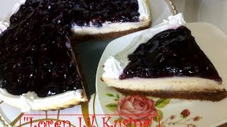 Blueberry Cheesecake Recipe ( Homemade Baked )