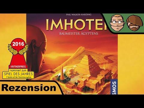 Imhotep (nominiert zum Spiel des Jahres 2016) - Brettspiel - Board Game - Review