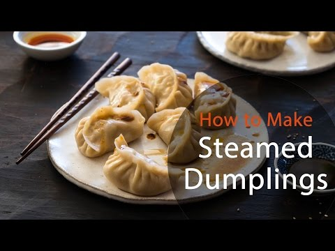 How To Make Steamed Dumplings (recipe) 猪肉白菜蒸饺