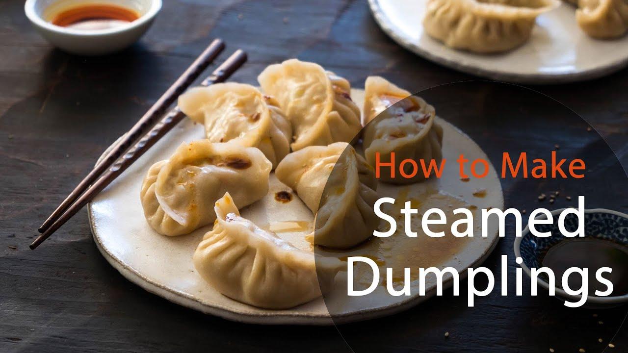 How To Make Steamed Dumplings (recipe) 猪肉白菜蒸饺 - YouTube