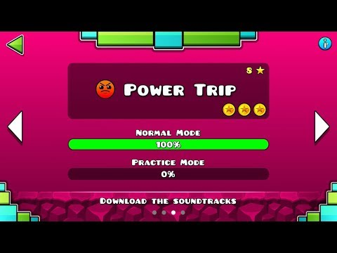 "Geometry Dash SubZero – ""Power Trip"" 100% Complete [All Coins] 