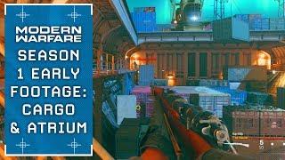 Modern Warfare: NEW Maps Cargo + Atrium (SEASON 1 EARLY GAMEPLAY)