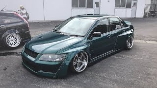 homepage tile video photo for Insane Static Lancer from Japan with Widebody | Clinched Flares