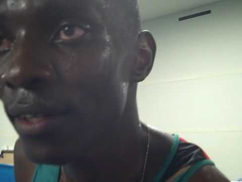 Asbel Kiprop after the 1500m Semifinal at Worlds 2009