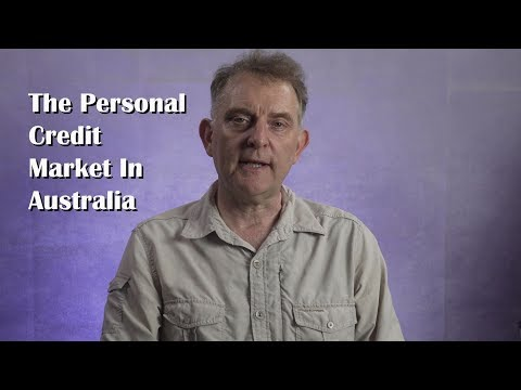 The Personal Credit Market In Australia