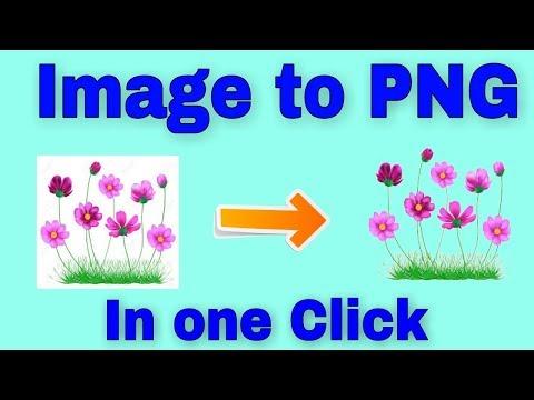 How To Convert Image Into PNG /  Photo  को PNG में कैसे बदलें