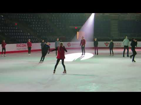 Canadian Skating Championships Gala Practice Group Number #2