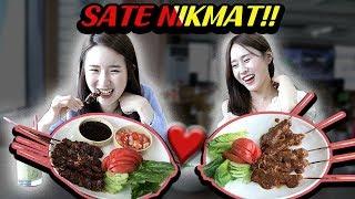 Download lagu REAKSI CEWEK KOREA PERTAMA MAKAN SATE/INDONESIAN SATE EATING SHOW/인도네시아 사떼 맛집