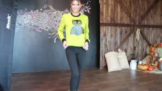 Теплый свитшот цвета шартрез от VISION fs видео обзор