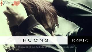 [♪Ryri Lyrics For You] Thương - Karik - Uyên Pím