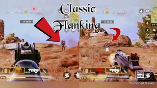 Gaming theory!!!!!  . .     Classic flanking.