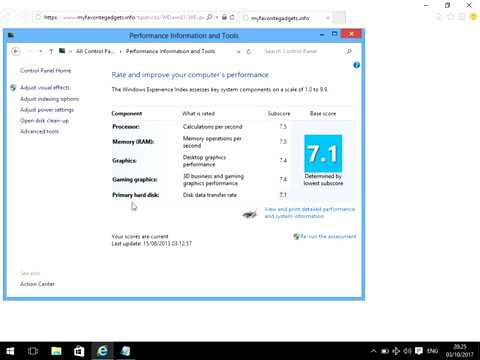 How To Find Your Windows 10 System Performance Rating - YouTube