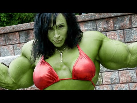 IFBB MUSCLE, Rene Campbell, FEMALES BODYBUILDING GYM WORKOUT