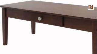 Winsome Rochester Coffee Table With One Drawer, Shaker 94840