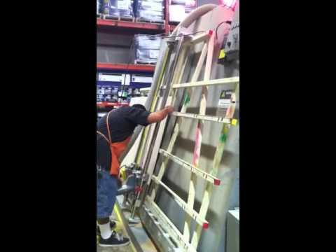 Home Depot guy cutting wood - YouTube