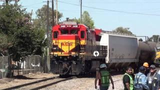 C30-S7MP de KCSM armando tren en Empalme Escobedo (2)