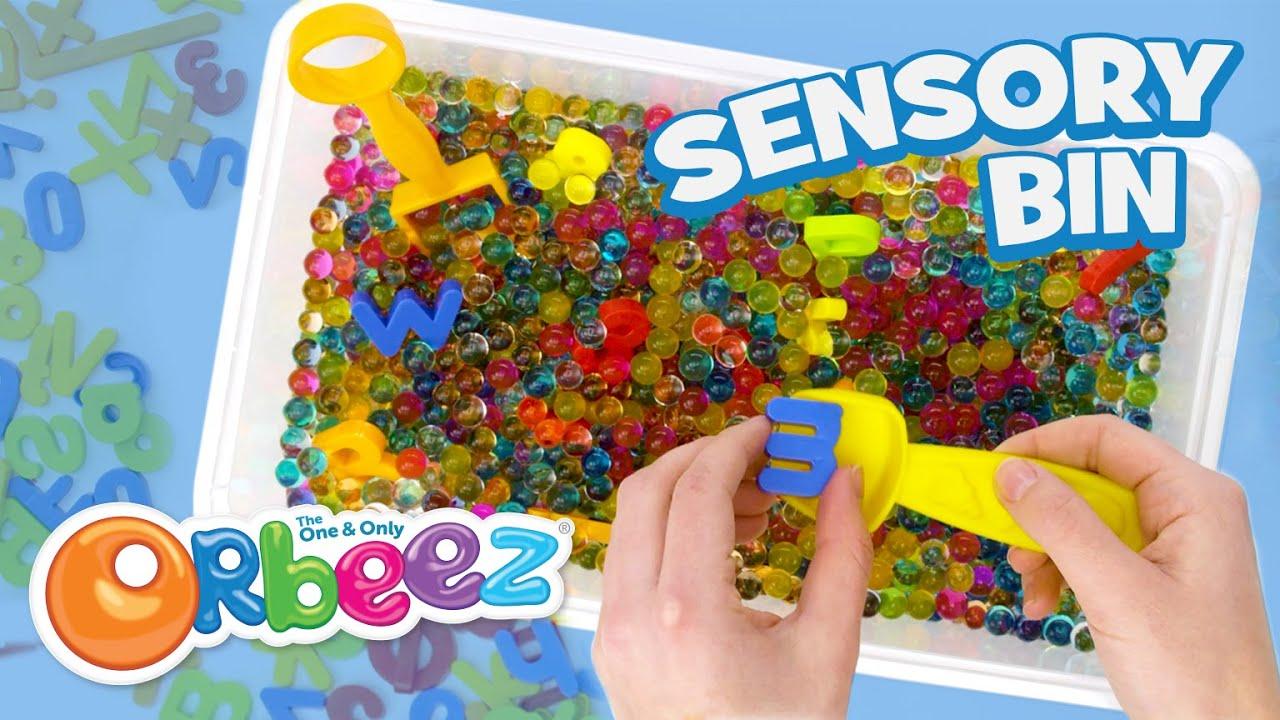 Try this Orbeez Sensory Bin! Satisfying Orbeez DIY Craft