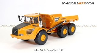 Volvo A40d Dump Truck 1:87 diecast scale model www.scaleartsin.com