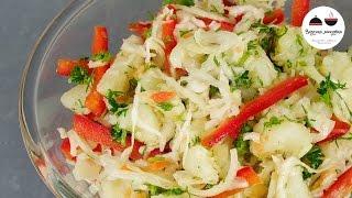 Теплый КАРТОФЕЛЬНЫЙ САЛАТ постный Очень Вкусно! Delicious Potato Salad
