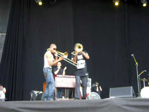 Bonnaroo 2009 - Galactic - Trombone Shorty and Corey Henry - Duet