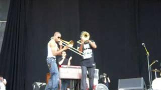 Bonnaroo 2009 - Galactic - Trombone Shorty and Corey Henry - Duet