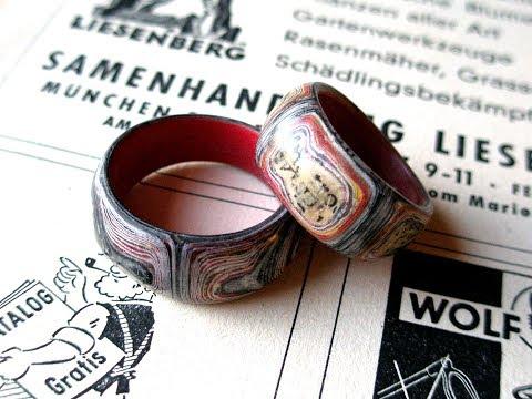 Ring laminated handmade Paper Fake fordite