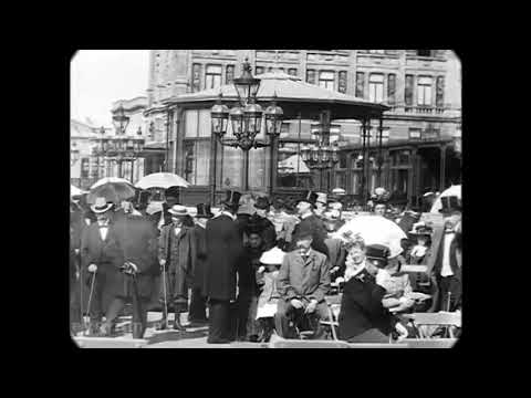 Sep 1898 - Scheveningen Boulevard in the Hague (speed corrected w/ added sound)