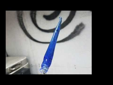 Making cobalt blue borosilicate glass from oxide