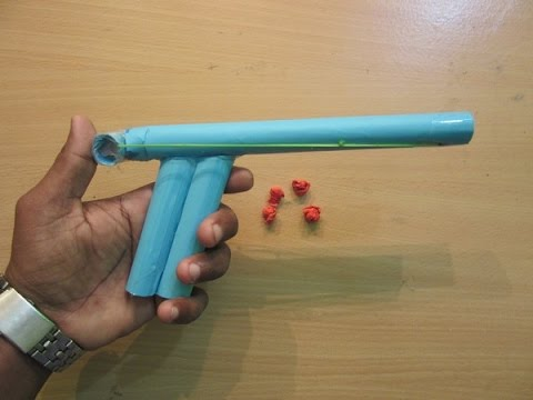 How to Make a Paper Gun that shoots Paper Bullets - Easy paper gun Tutorials