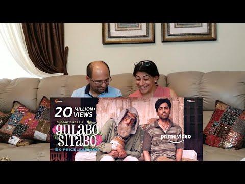 Gulabo Sitabo - Official Trailer | Amitabh Bachchan, Ayushmann Khurrana | Shoojit, Juhi | REACTION