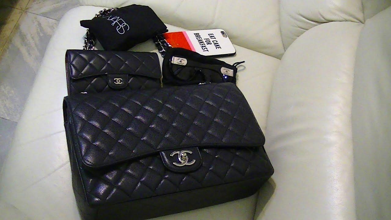 10aeaf8fa Review: Chanel Classic Jumbo Maxi Caviar (Calf Leather) Flap Bag - Wear &  Tear ~ popcornday