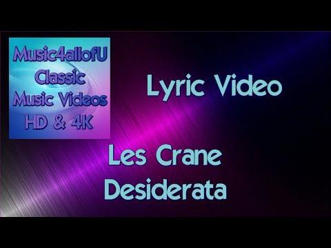 Les Crane - Desiderata (The Lyric Video) 1971 Warner Brothers Single