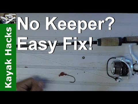 How To Make A Hook Keeper For A Fishing Rod In Seconds