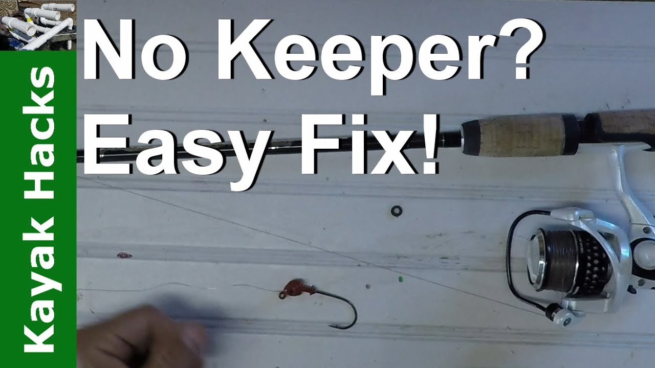 How to make a hook keeper for a fishing rod in seconds for How to make a fishing hook