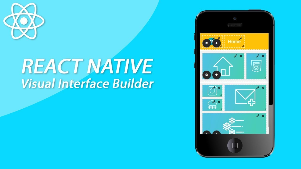React Native Visual Interface Drag And Drop App Builder Working Prototype #2