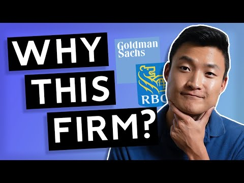 Why This Firm? (Examples for Goldman Sachs and RBC)