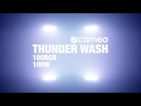 Strobe Leds THUNDER WASH 100 RGB CAMEO 3en1 Strobe Blinder Wash Light Cameo vidéo