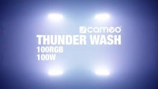 Cameo THUNDER WASH 100 - 3 in 1 Strobe, Blinder and Wash Light 132 x 0.2 W