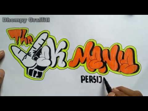 Membuat Graffiti The Jak Mania Persija Fans Club Youtube