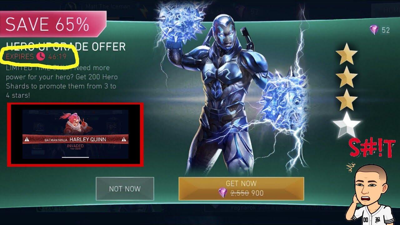 Injustice 2 Mobile Blue Beetle Upgrade Batman Ninja Harley Quinn Invading Arena Battles Youtube