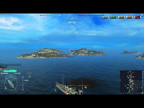 World of Warships - American Cruiser USS Chester (Battle Recording Needs Optimization)