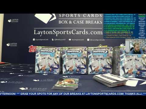 2017 Bowman Chrome Baseball Hobby 12 Box Case Break #38 – RANDOM TEAMS