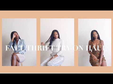 FALL THRIFT TRY-ON HAUL | Transitional Pieces | Goodwill Haul