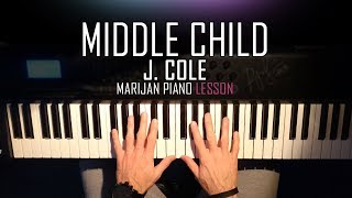 How To Play: J. Cole - Middle Child | Piano Tutorial Lesson