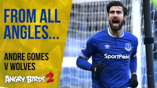 ANDRE GOMES' FIRST EVERTON GOAL: FROM ALL ANGLES!