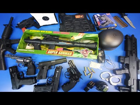 Box Of Toy Guns ! RPG Rocket Launcher Toys SA-931 , Airsoft Gun, Military Guns & Equipment Toys