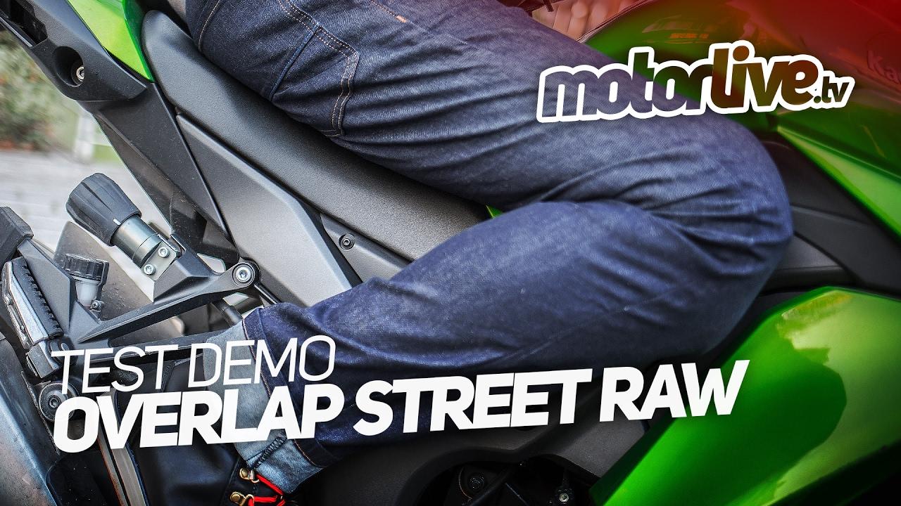 pantalon moto overlap street raw