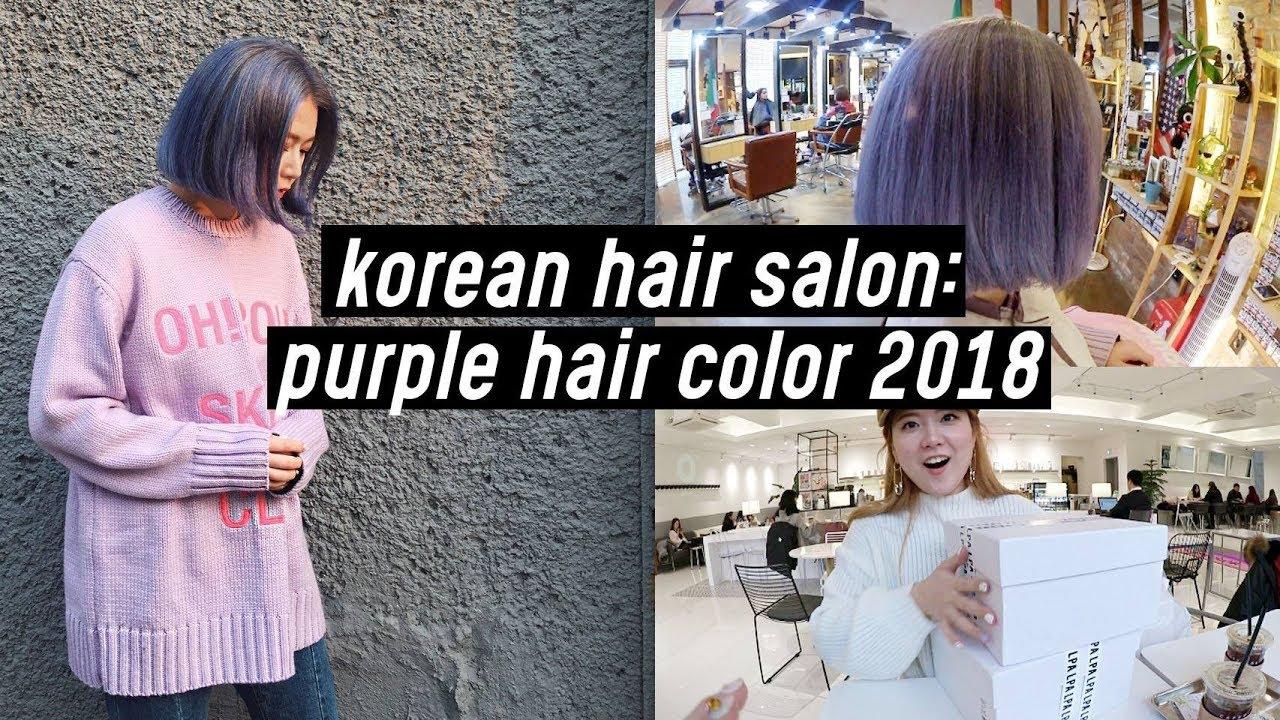 Korean Salon Purple Hair Dye Bleach New Bags Haul For Indonesia