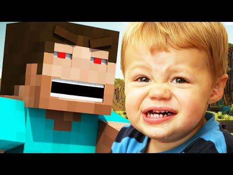TROLLING TWO SQUEAKERS ON MINECRAFT! - (Minecraft Griefing)