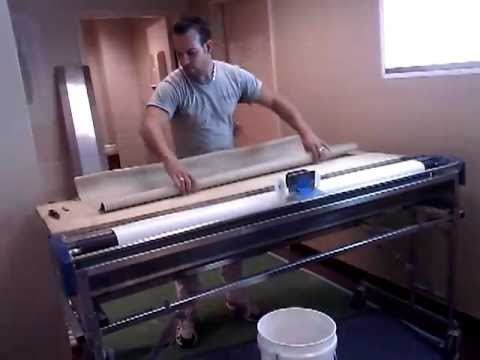 How to Cut vinyl wall covering on the machine